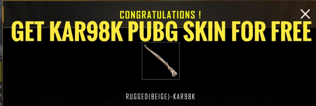 KAR98k PUBG SKIN AND SCARL SKININ PUBG MOBILE, free skin, free pubg skin, free uc