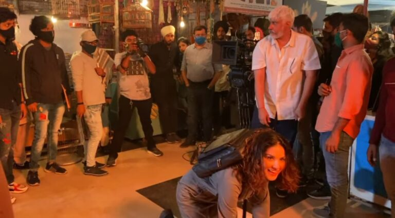 Vikram Bhatt hits Sunny Leone while shooting on the sets, actress shares video…