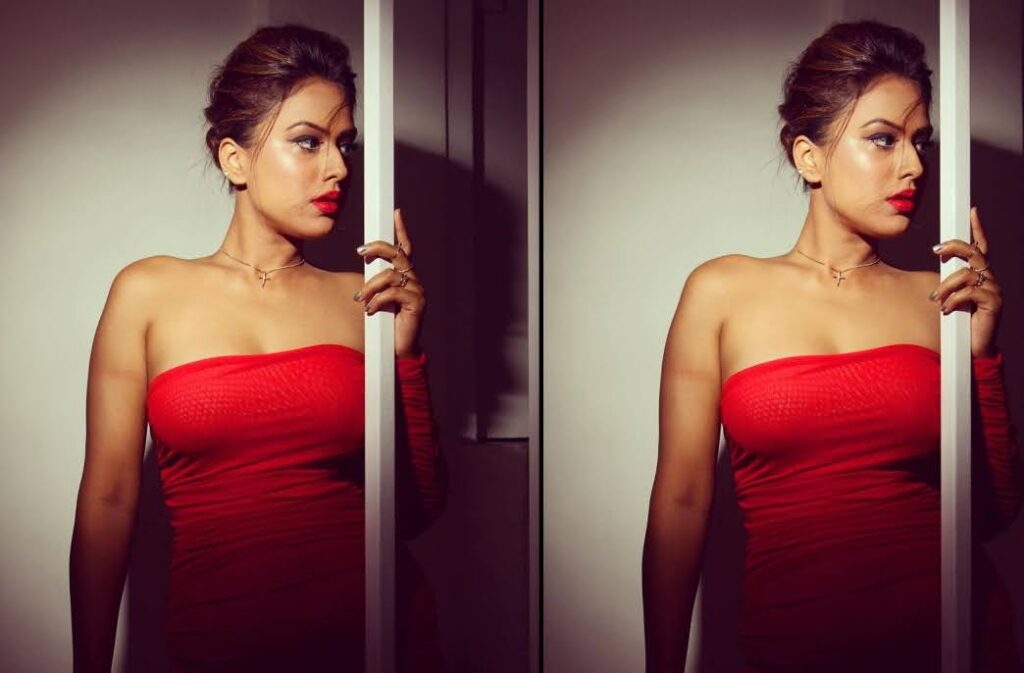 Nia Sharma looks like FIERY HOT in a bright red outfit, SEE PHOTOS...