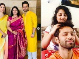 RAHUL-VAIDYA-WISHES-HER-MOTHER-SISTER-AND-DISHA-PARMAR-HAPPY-WOMENS-DAY