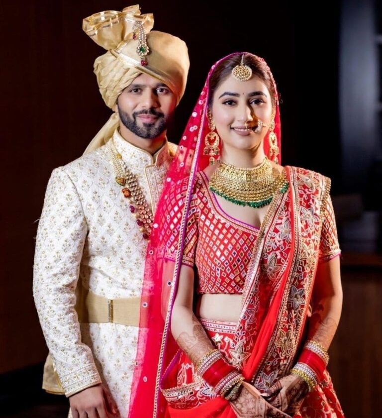 """Rahul Vaidya and Disha Parmar's FIRST PHOTOS as newlyweds attend """"family lunch""""."""