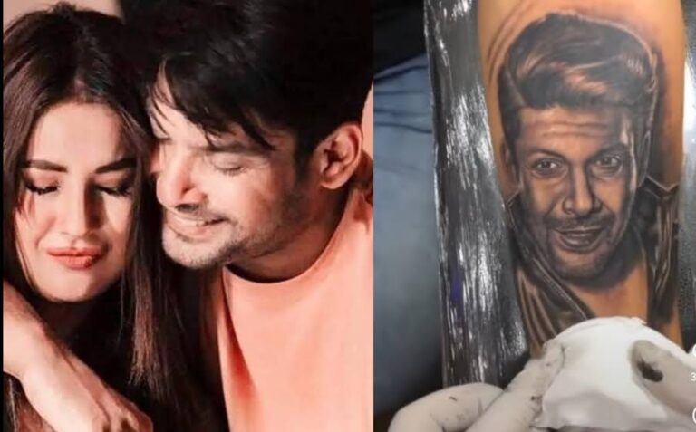 Shehnaaz Gill's brother gets Sidharth Shukla's face tattooed on his arm, shares PIC.